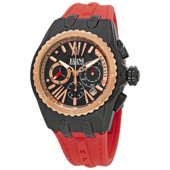 Elini Barokas Genesis Vision Chronograph Men's Watch ELINI-20008-BB-01-RBA-RDS   Joma Shop