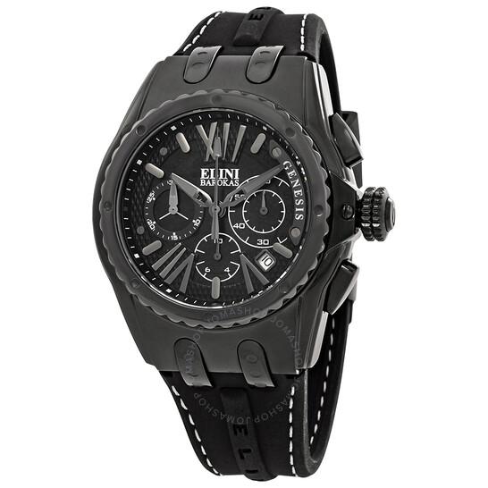 Elini Barokas Genesis Vision Chronograph Men's Watch ELINI-20008-BLK   Joma Shop