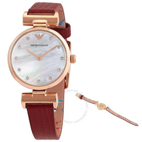 Emporio Armani Quartz Mother of Pearl Dial Ladies Watch AR11318 | Joma Shop