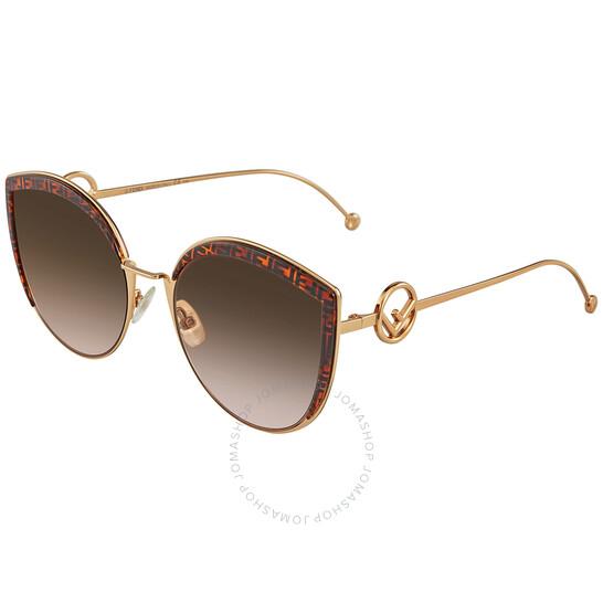Fendi Brown Gradient Cat Eye Ladies Sunglasses (FF 0290/S 0VH8 58)