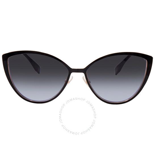 Fendi Grey Azure Cat Eye Ladies Sunglasses (FF 0413/S 02M2 60)