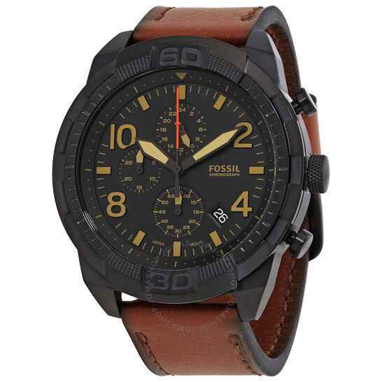 Fossil Bronson Chronograph Quartz Black Dial Men's Watch FS5714 | Joma Shop