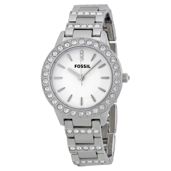 Fossil Glitz White Dial Stainless Steel Ladies Watch ES2362   Joma Shop