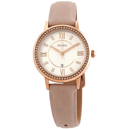 Fossil Gwen Quartz Crystal White Dial Ladies Watch ES4877 | Joma Shop