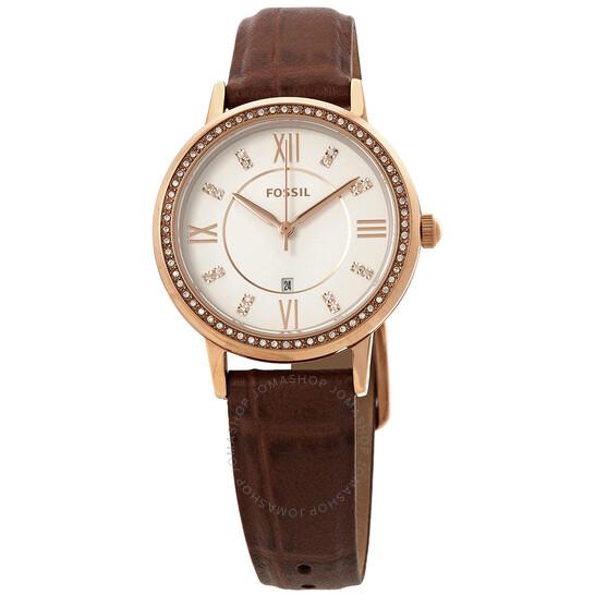 Fossil Gwen Quartz Crystal White Dial Ladies Watch ES4878 | Joma Shop