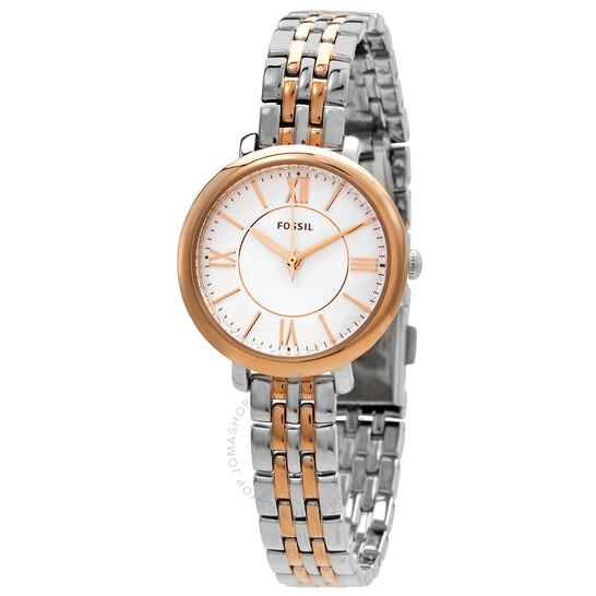 Fossil Jacqueline Quartz White Dial Ladies Watch ES4612 | Joma Shop