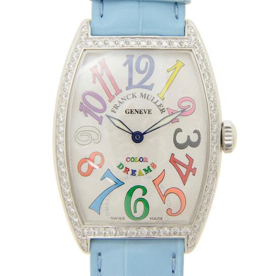 Franck Muller Cintree Curvex Quartz Diamond Silver Dial Unisex Watch 2852QZCOLDRMD1R(AC)   Joma Shop