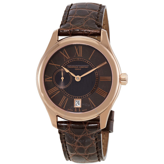 Frederique Constant Automatic Brown Mother of Pearl Dial Ladies Watch