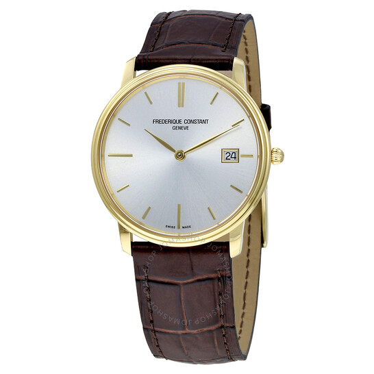 Frederique Constant Slim Line Light Grey Dial Men's Watch Fc-220nv4s5 FC- 220NV4S5 - Frederique Constant, Slim Line - Jomashop