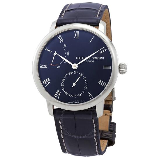 Frederique Constant Slimline Automatic Power Reserve Blue Men's Watch FC-723NR3S6   Joma Shop