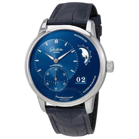 Glashutte PanoMaticLunar Automatic Blue Dial Men's Watch 1-90-02-46-32-35 | Joma Shop