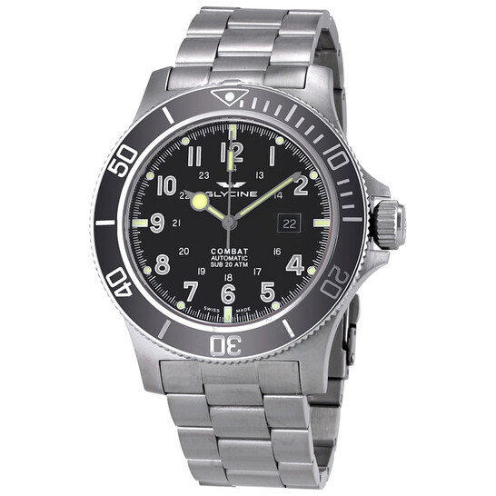 Mouvement suisse budget serré - Page 2 Glycine-combat-sub-automatic-black-dial-mens-watch-gl0095--