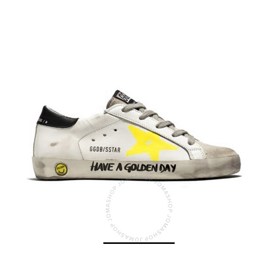 Golden Goose Deluxe Brand Kids Painted Star And Lettering Superstar Sneakers, Brand Size 30 | Joma Shop