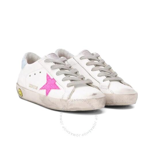 Golden Goose Deluxe Brand Kids Pink Glitter Superstar Sneakers, Brand Size 33 (US Size 2 Kids) | Joma Shop