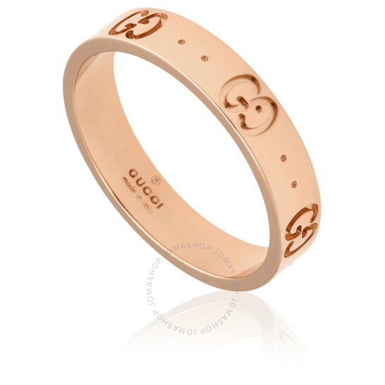 Gucci 18kt Rose Gold Womens Ring, Brand Size 17 (8 US)   Joma Shop