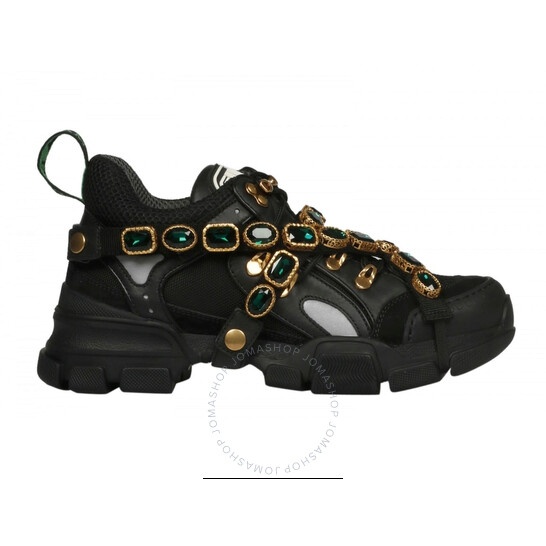 Gucci Flashtrek Sneaker with Removable Crystals, Brand Size 34 (US Size 4)   Joma Shop