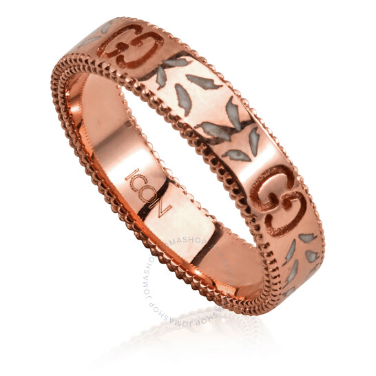 Gucci Icon 18k Rose Gold Ring, Brand Size 09 (5 US) | Joma Shop