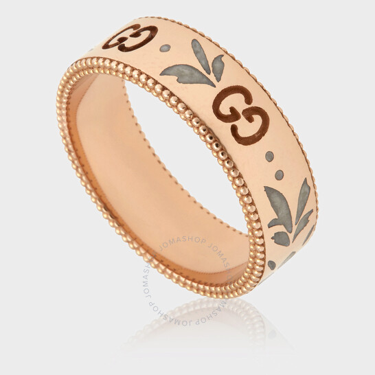 Gucci Icon Blossom 18kt Rose Gold Ring, Brand Size 10 (5 1/4 US) | Joma Shop