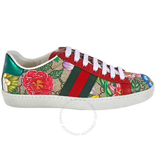 Gucci Ladies Ace GG Flora Sneakers, Brand Size 35.5 (US Size 5.5) | Joma Shop
