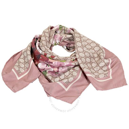 Gucci Ladies GG Blooms Print Silk Scarf | Joma Shop