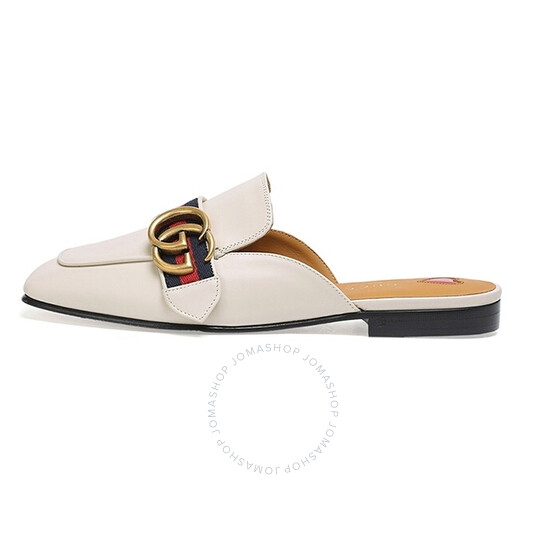 Gucci Ladies GG Leather Slippers, Brand Size 38 (US Size 8) | Joma Shop