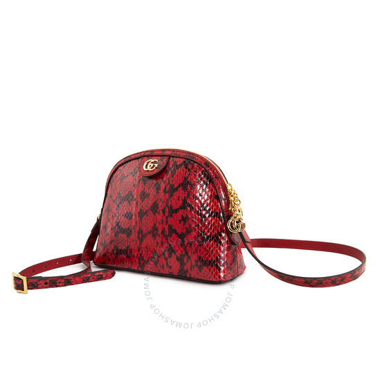 Gucci Ladies Snakeskin Small Ophidia Shoulder Bag
