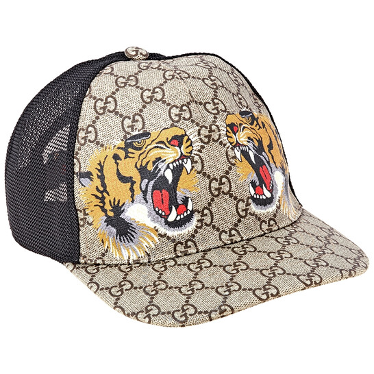 Gucci Men's Medium Tigers Print GG Supreme Baseball Hat, Brand Size Medium | Joma Shop