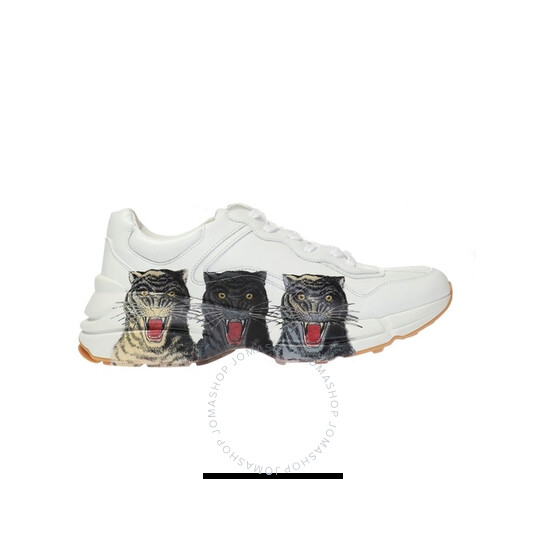 Gucci Men's Rhyton Leaher Tiger Sneakers, Brand Size 6 ( US Size 6.5 ) | Joma Shop