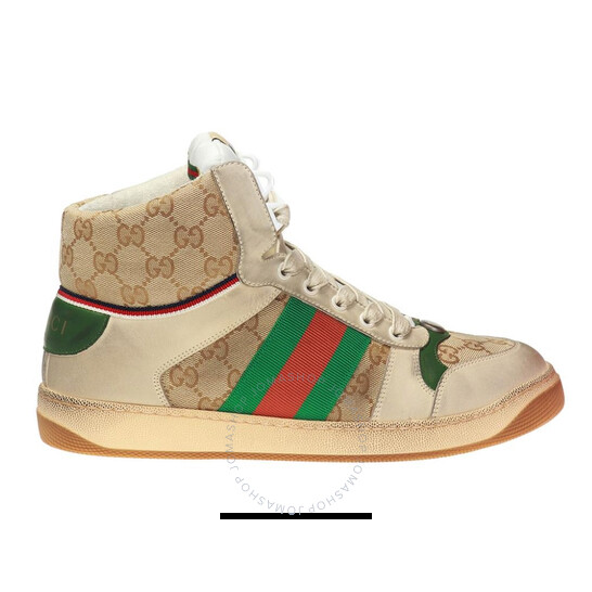 Gucci Men's GG Canvas Screener High-top Sneakers, Brand Size 5 (US Size 5.5)   Joma Shop