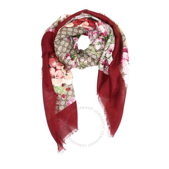 Gucci Modal Silk Blooms Print Shawl   Joma Shop