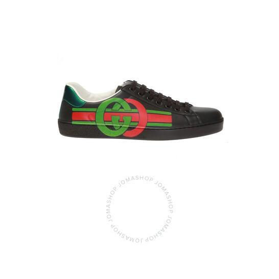 Gucci New Ace Men's Black Sneakers, Brand Size 6.5   Joma Shop