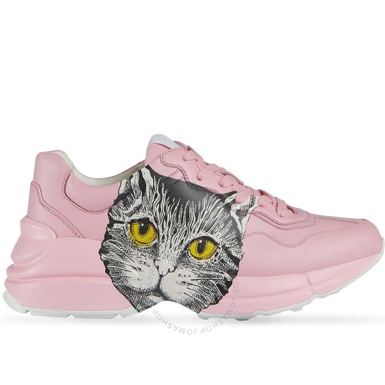 Gucci Rhyton Pink Mystic Cat Print Sneakers, Brand Size 37 | Joma Shop