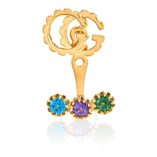 Gucci Running G 18k Yellow Gold With Topaz Earrings   Joma Shop