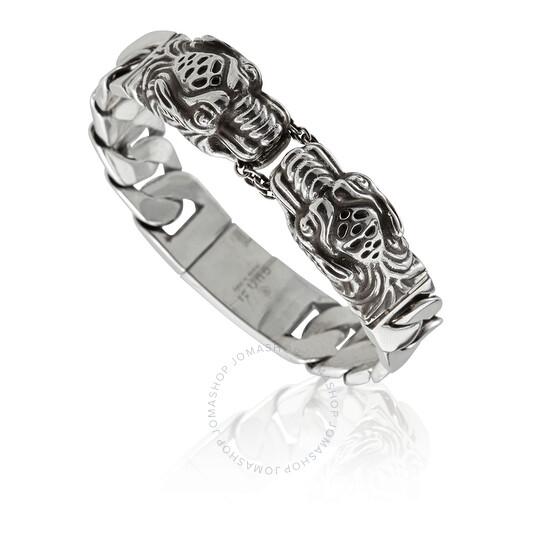Gucci Tiger Head Silver Bracelet, Brand Size 16 | Joma Shop