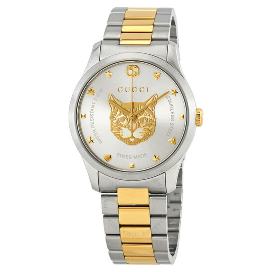 Gucci Timeless Silver Dial Two-tone Unisex Watch YA1264074 | Joma Shop