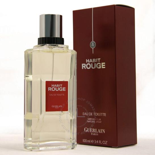 Guerlain Habit Rouge Guerlain Edt Spray 3 3 Oz M 3346470235533 Men S Colognes Mens Eau De Toilette Jomashop