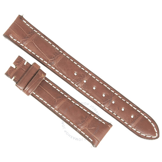 Hadley Roma Matte Brown 16 MM Alligator Leather Strap | Joma Shop