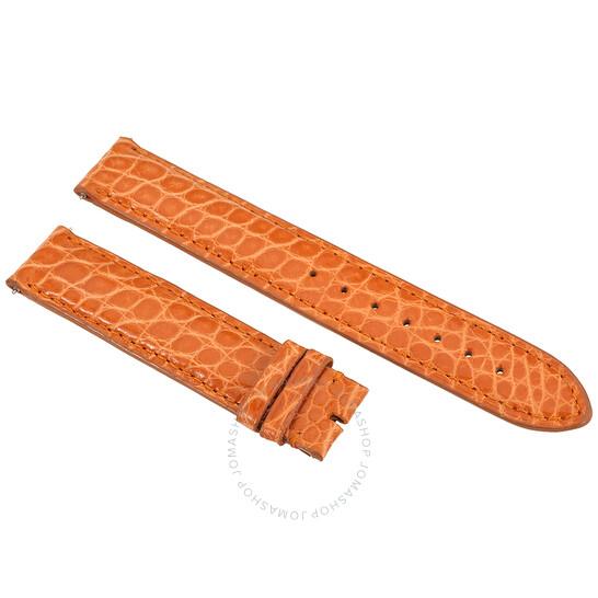 Hadley Roma Orange 18 MM Alligator Leather Strap | Joma Shop