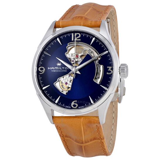 Hamilton Jazzmaster Open Heart Automatic Men's Leather Watch H32705541 | Joma Shop