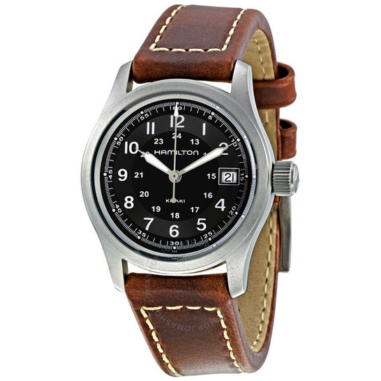 Hamilton Khaki Field Black Dial Brown Leather Men's Watch H68311533 | Joma Shop