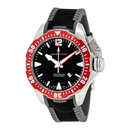 Hamilton Khaki Navy Frogman Automatic Black Dial Men's Watch H77805335   Joma Shop