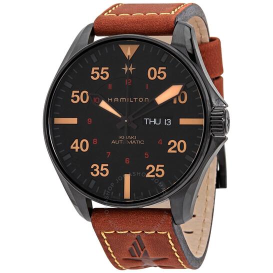 Hamilton Khaki Pilot Automatic Black Dial Men's Watch H64705531 | Joma Shop