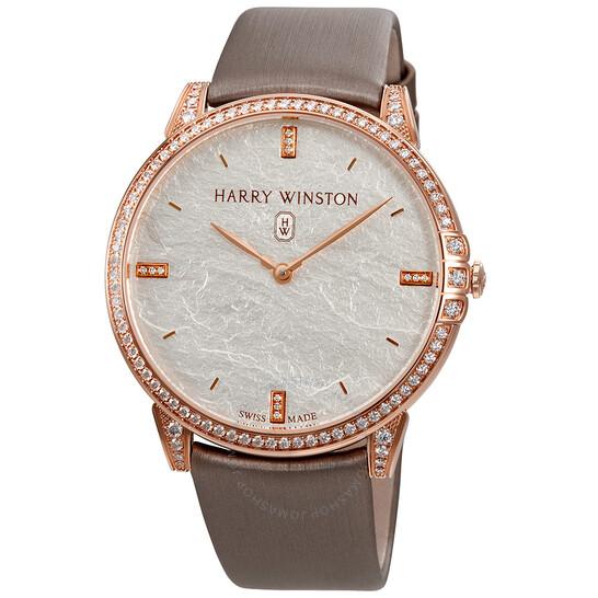 Harry Winston 18K Rose Gold Diamond Ladies Watch MIDQHM39RR004   Joma Shop
