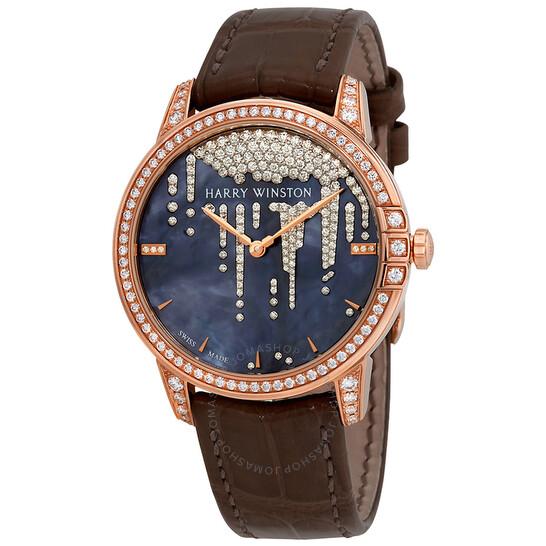 Harry Winston Midnight Tahitian Mother Of Pearl Dial Ladies Diamond Watch MIDAHM36RR001   Joma Shop