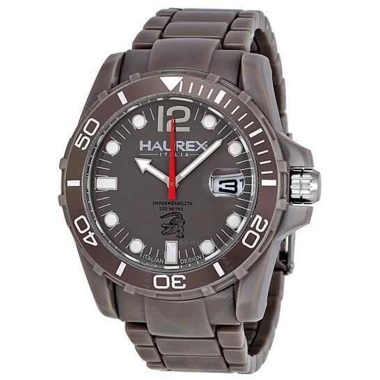 Haurex Italy Caimano Date Grey Dial Plastic Sport Men's Watch G7354UGG   Joma Shop