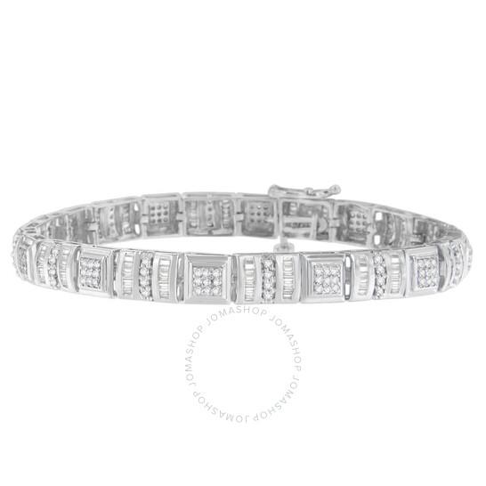 10k White Gold Finish 1ct Oval Cut Diamonds Tennis Bracelet Very NICE!!
