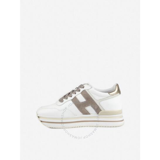 Hogan Midi H222 Ladies White Sneakers