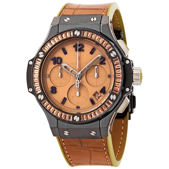 Hublot Big Bang Tutti Frutti Tan Dial Chronograph Unisex Watch 341CA5390LR1918   Joma Shop