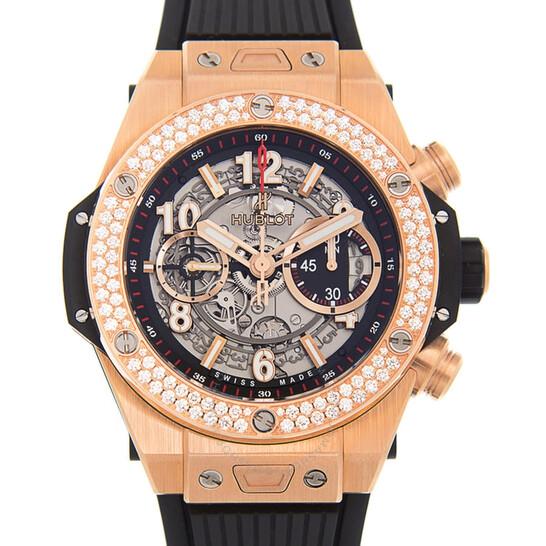 Hublot Big Bang Unico King Gold Dial Silver Automatic Men's Watch 411.OX.1180.RX.1104   Joma Shop