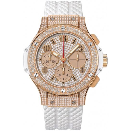 Hublot Big Bang White Diamond Dial Automatic 18 Carat Rose Gold Ladies Watch 341.PE.9010.RW.1704 | Joma Shop